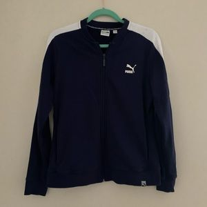 Puma Women's Navy Zip-Up Sports Jacket XL